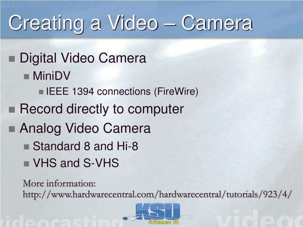 Creating a Video – Camera