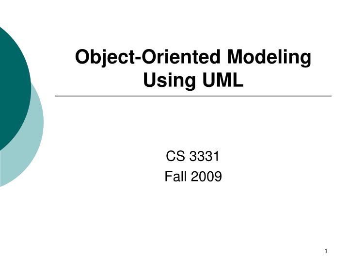 Object oriented modeling using uml