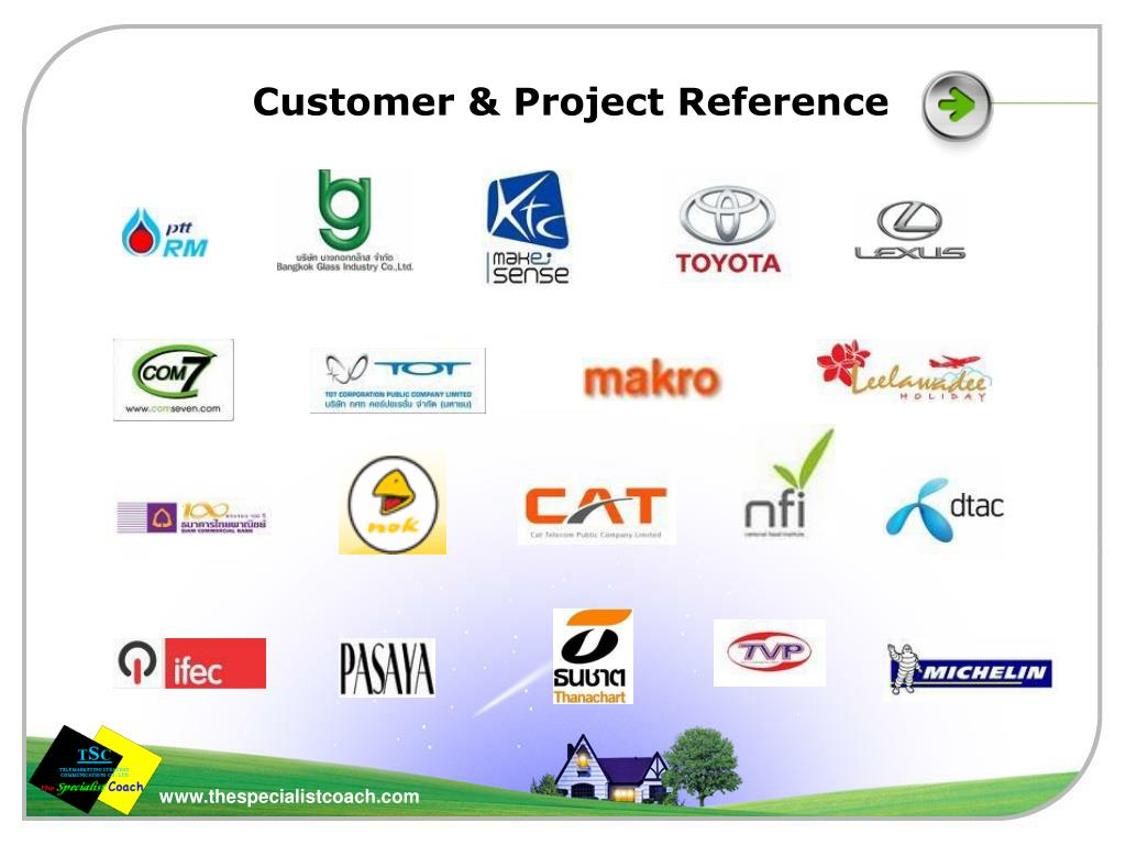 Customer & Project Reference