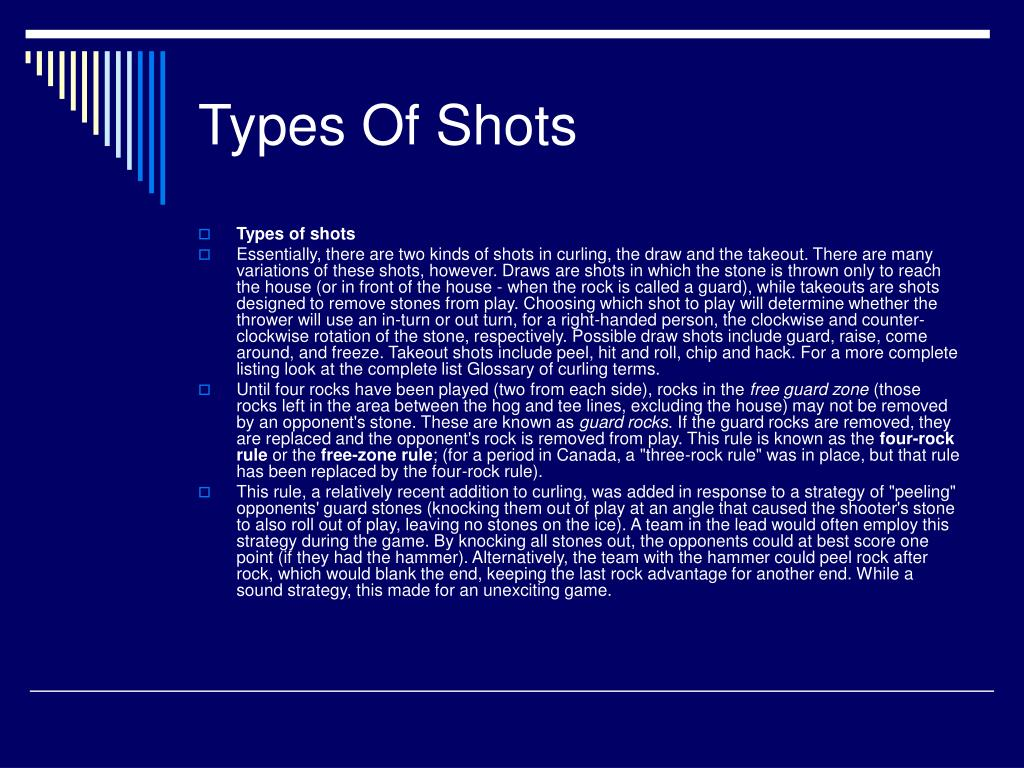 Types Of Shots