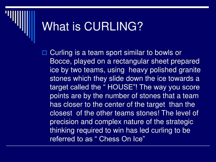 What is curling
