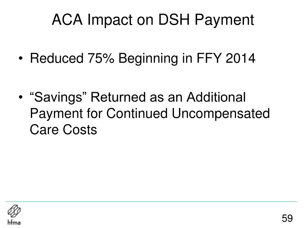 ACA Impact on DSH Payment