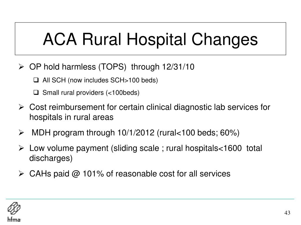 ACA Rural Hospital Changes