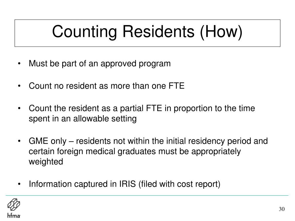 Counting Residents (How)