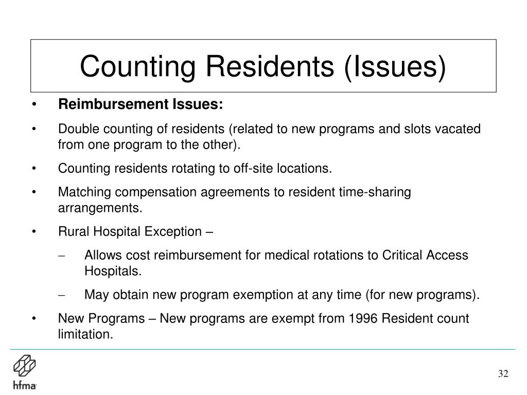 Counting Residents (Issues)