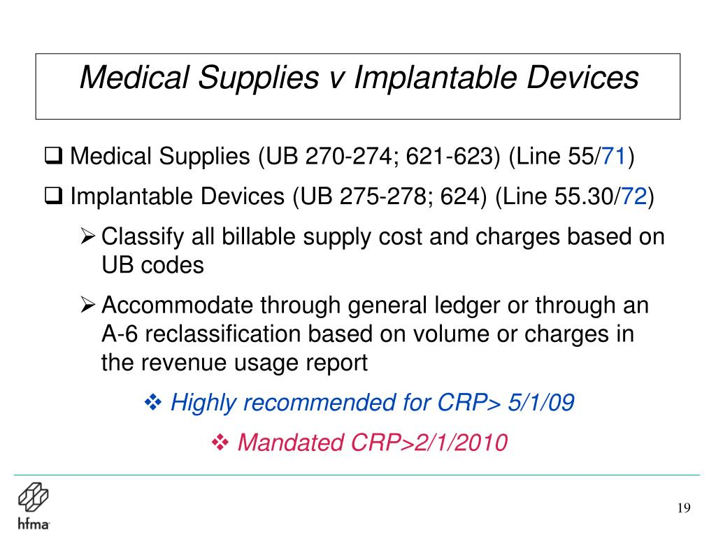 Medical Supplies v Implantable Devices