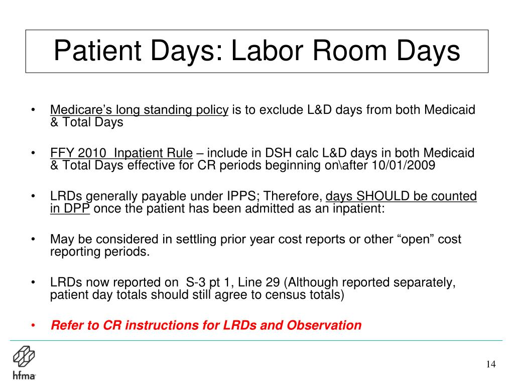 Patient Days: Labor Room Days