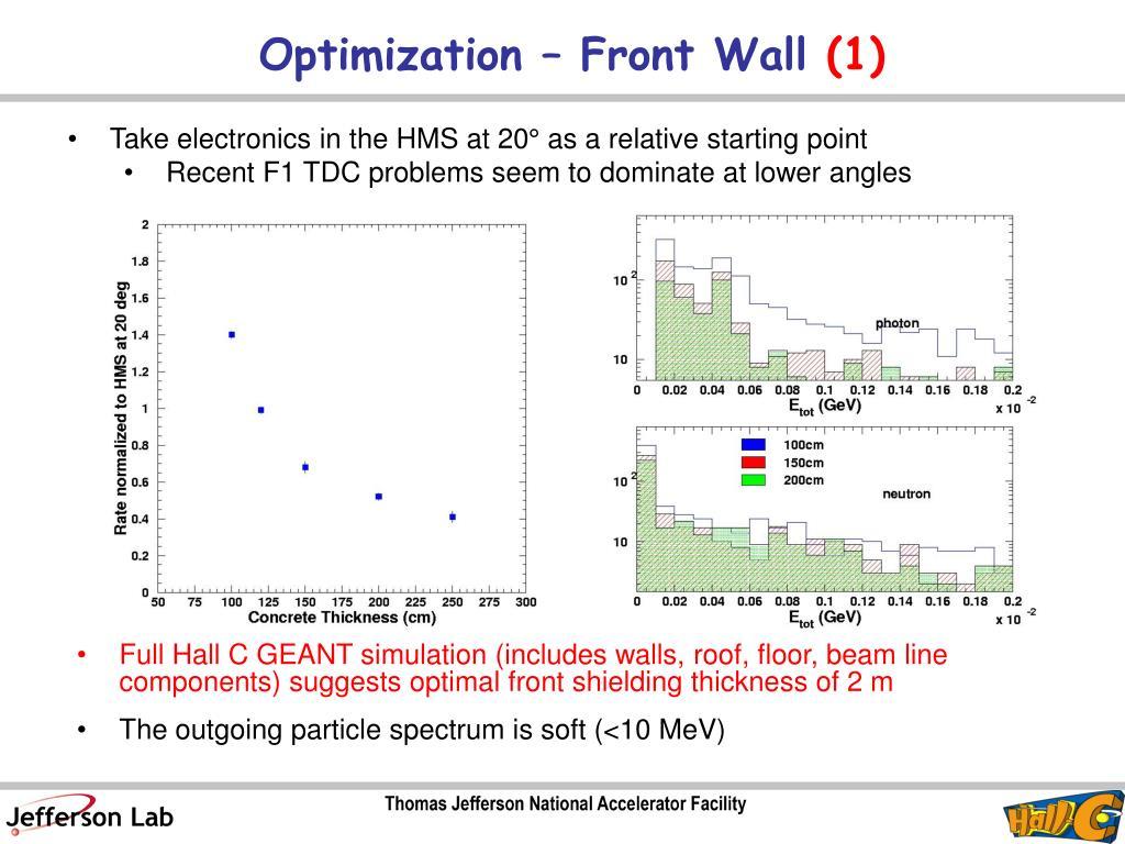 Optimization – Front Wall
