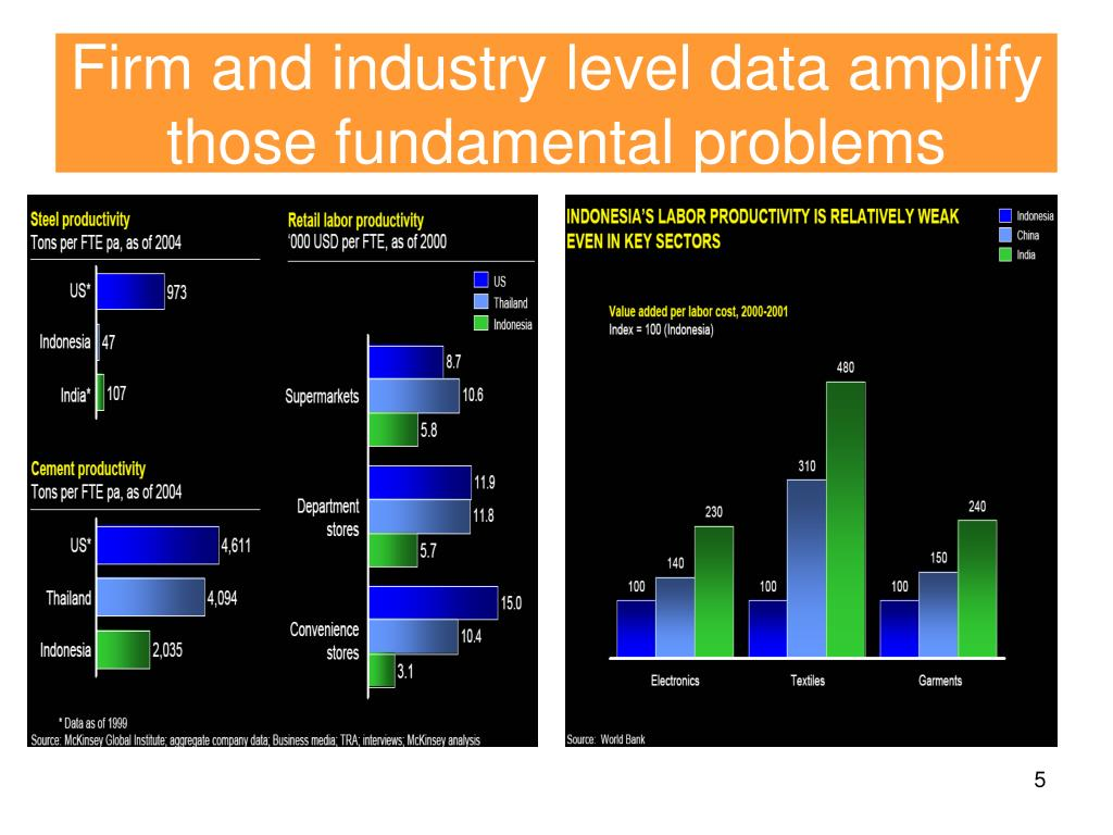 Firm and industry level data amplify those fundamental problems