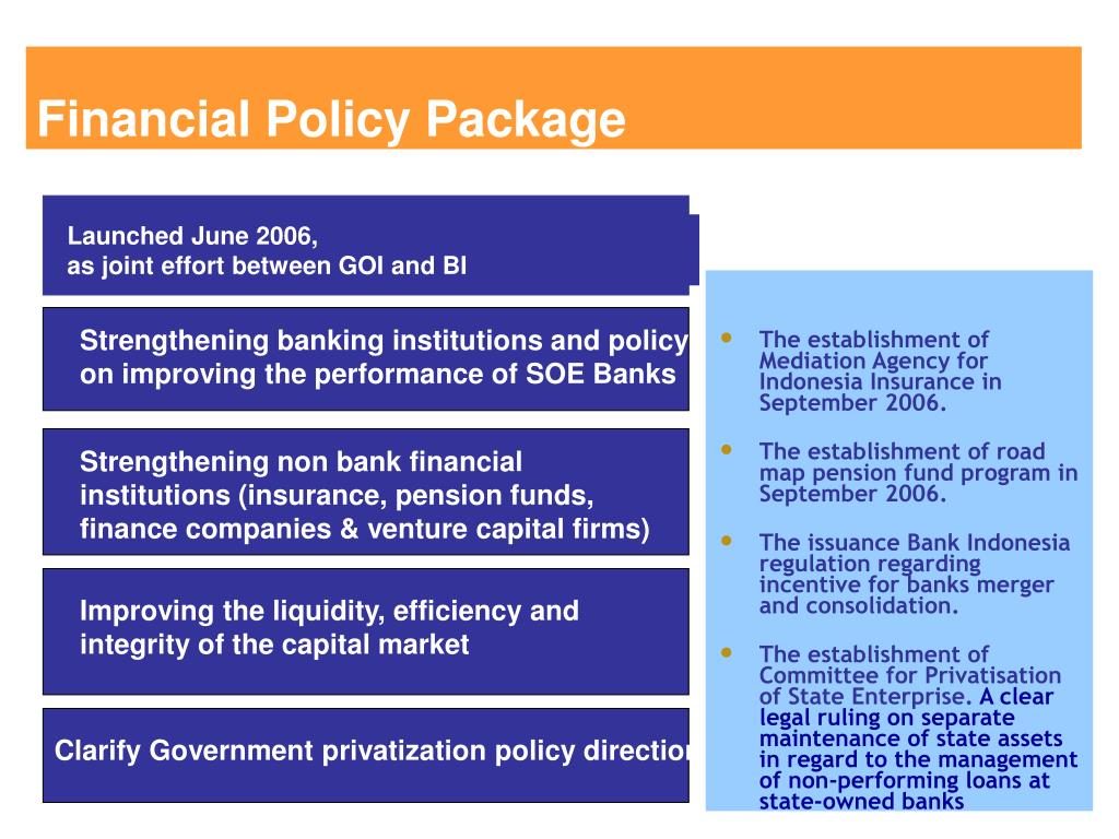 Financial Policy Package