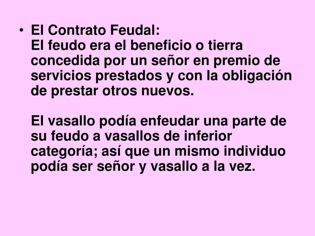 El Contrato Feudal: