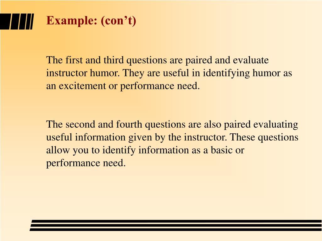 Example: (con't)