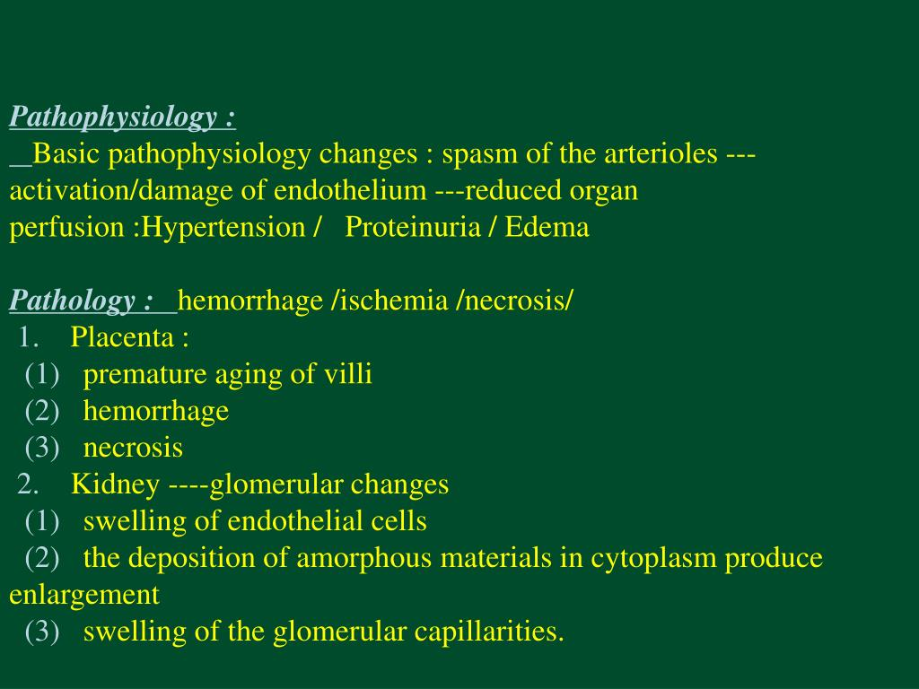 Pathophysiology :