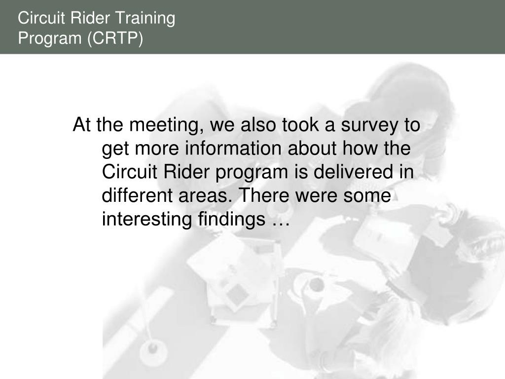 Circuit Rider Training