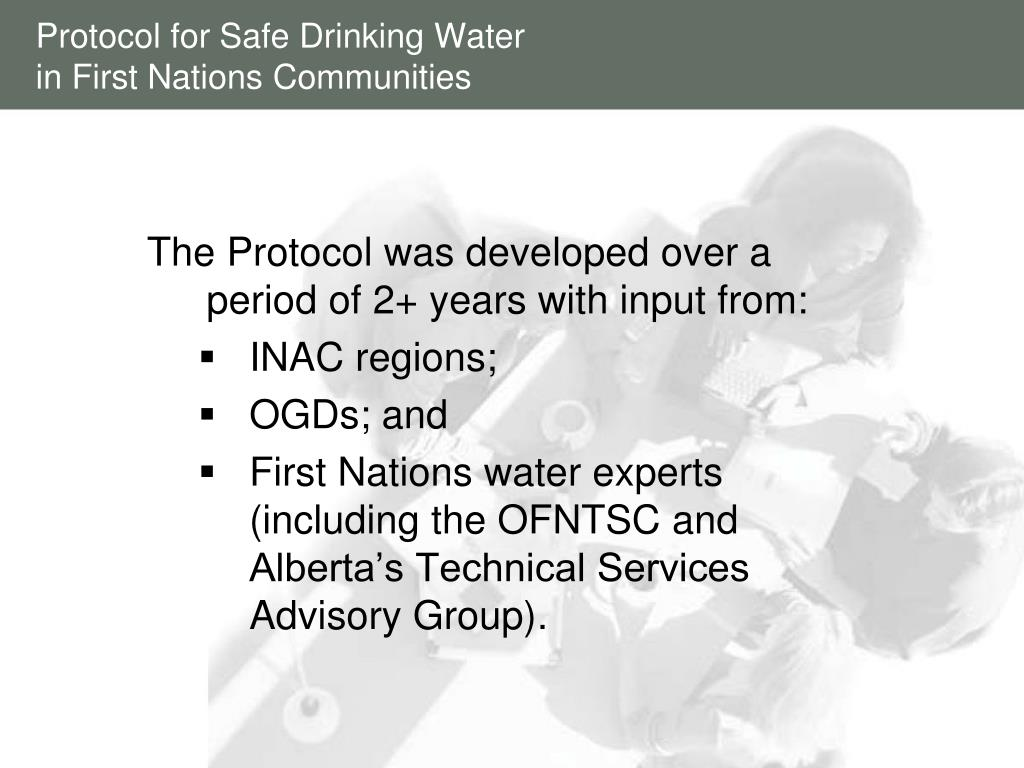 Protocol for Safe Drinking Water