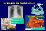 for making the final diagnosis