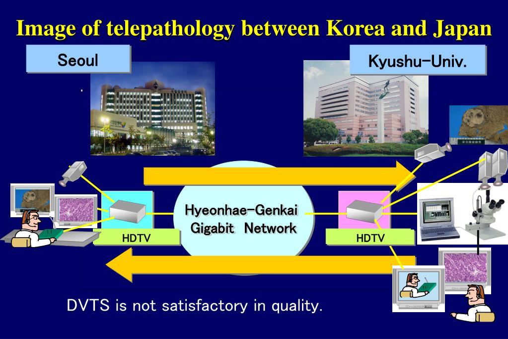 Image of telepathology between Korea and Japan