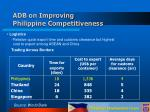 adb on improving philippine competitiveness19