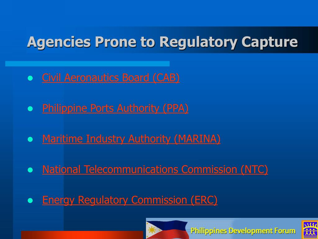 Agencies Prone to Regulatory Capture