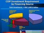 ciip investment requirement by financing source