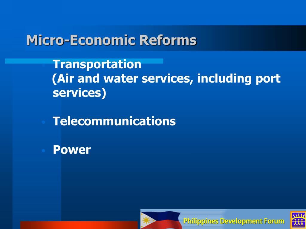 Micro-Economic Reforms