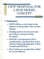 crtp proposal for a hub model concept11