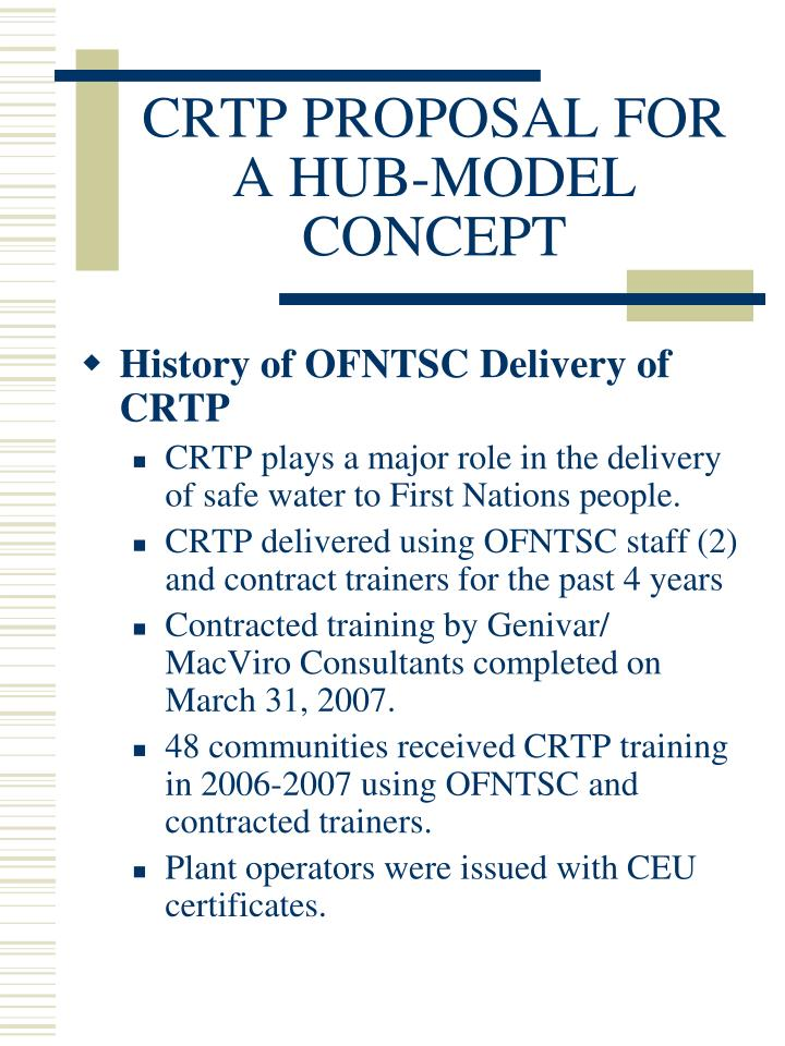 Crtp proposal for a hub model concept2