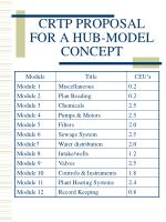 crtp proposal for a hub model concept8