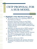 crtp proposal for a hub model