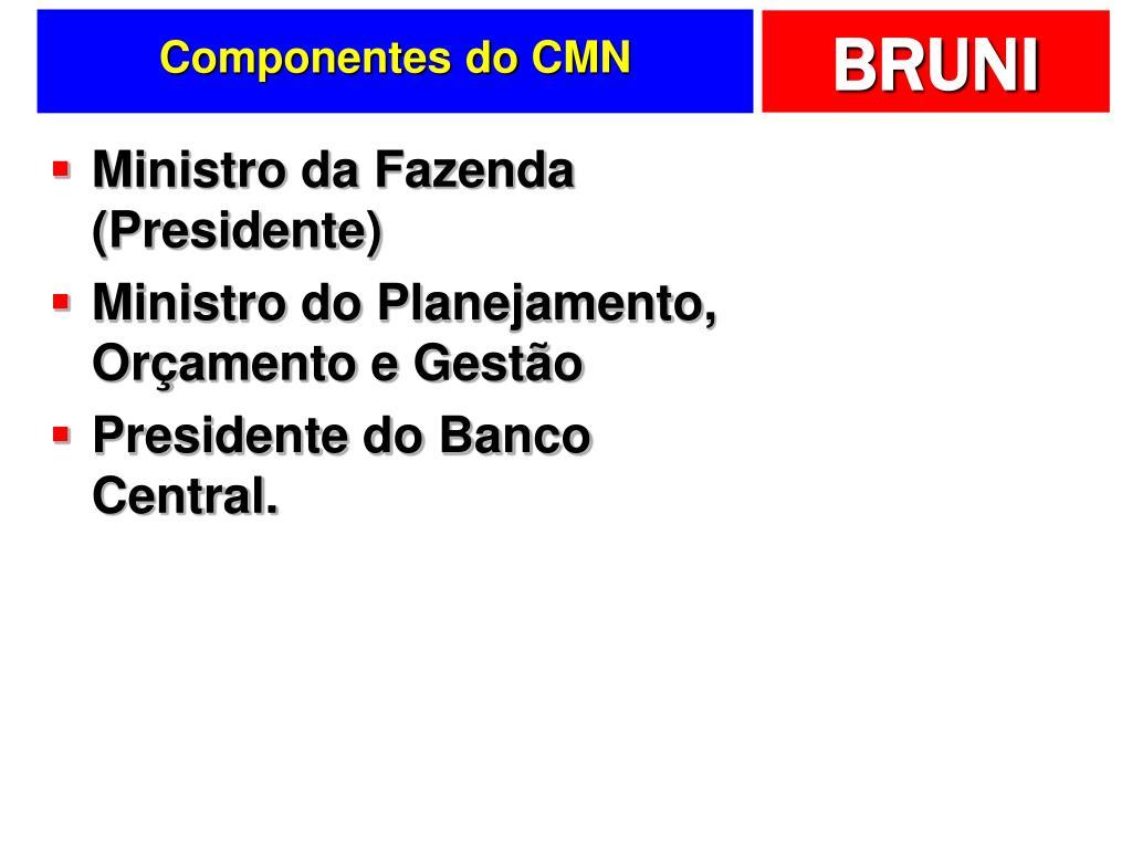 Componentes do CMN