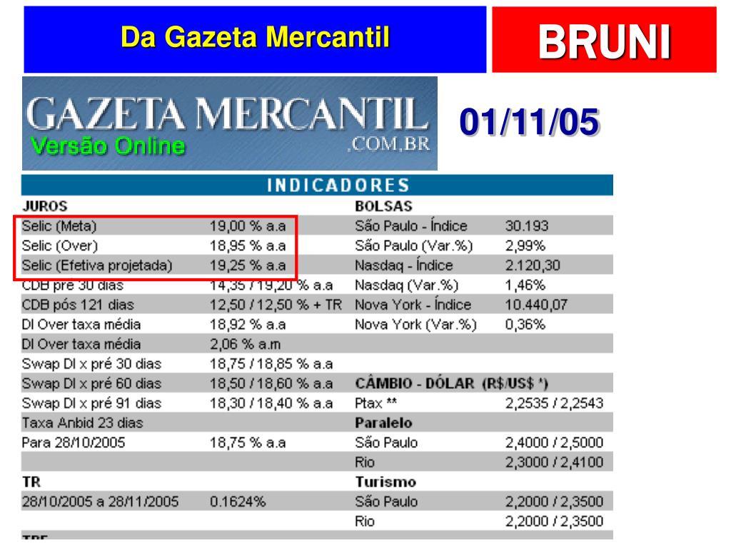 Da Gazeta Mercantil