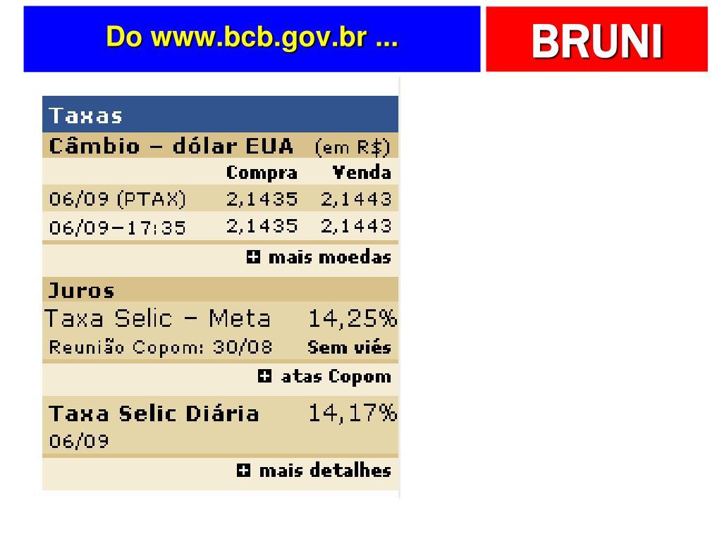 Do www.bcb.gov.br ...