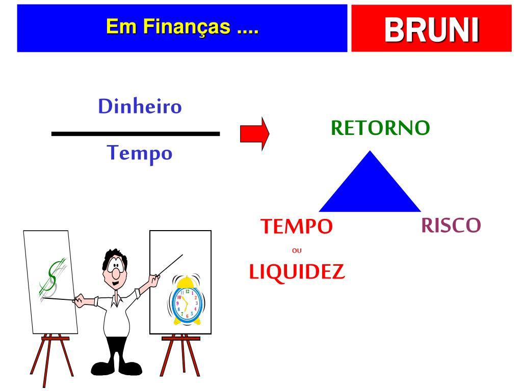 Em Finanças ....