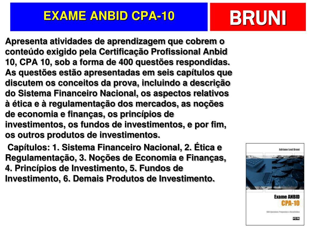 EXAME ANBID CPA-10