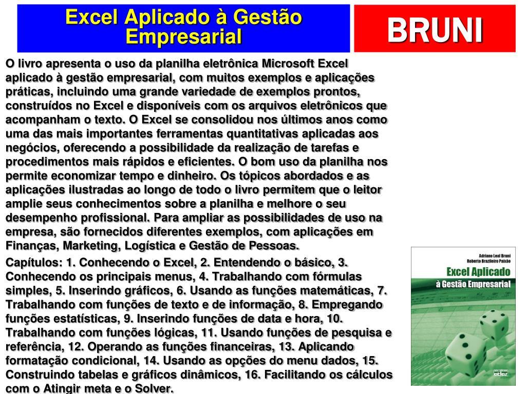 Excel Aplicado à Gestão Empresarial