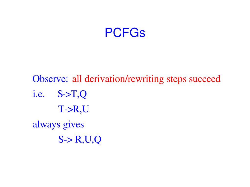 PCFGs