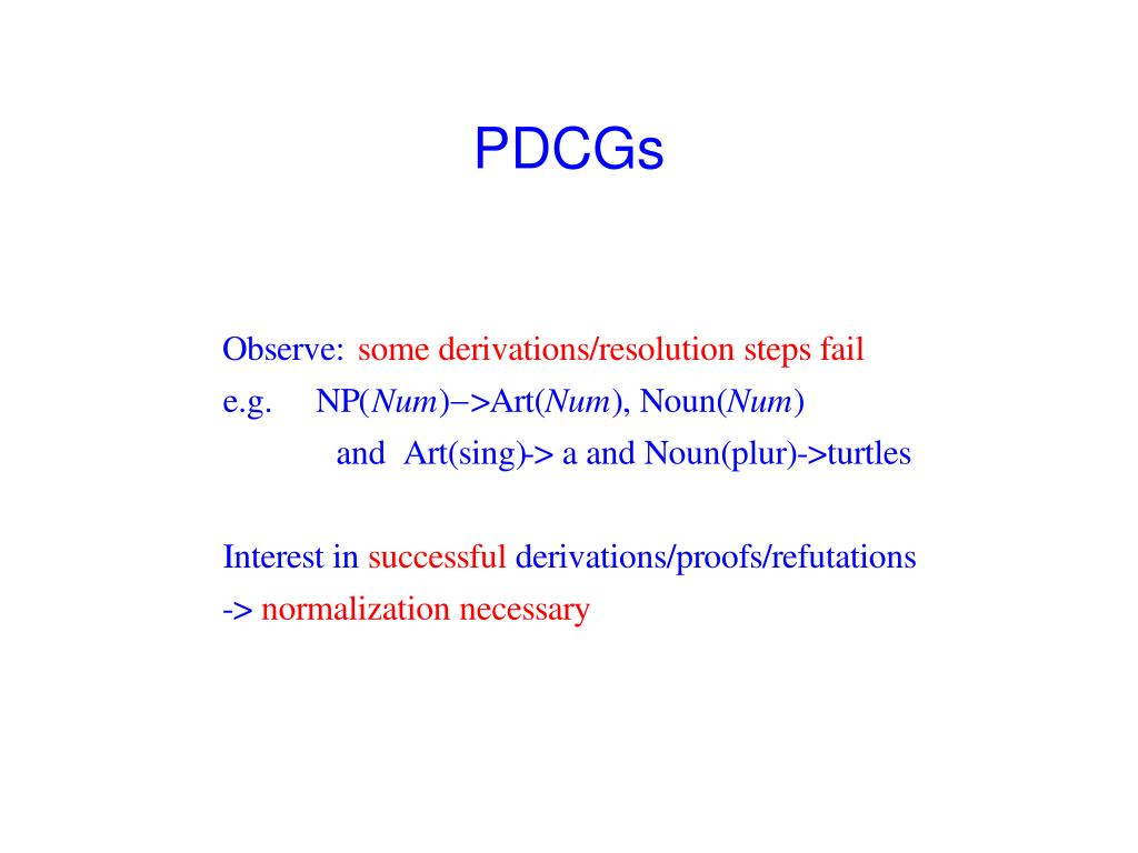 PDCGs
