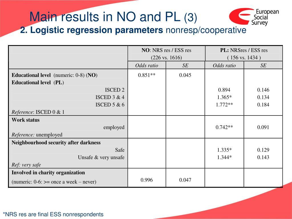2. Logistic regression