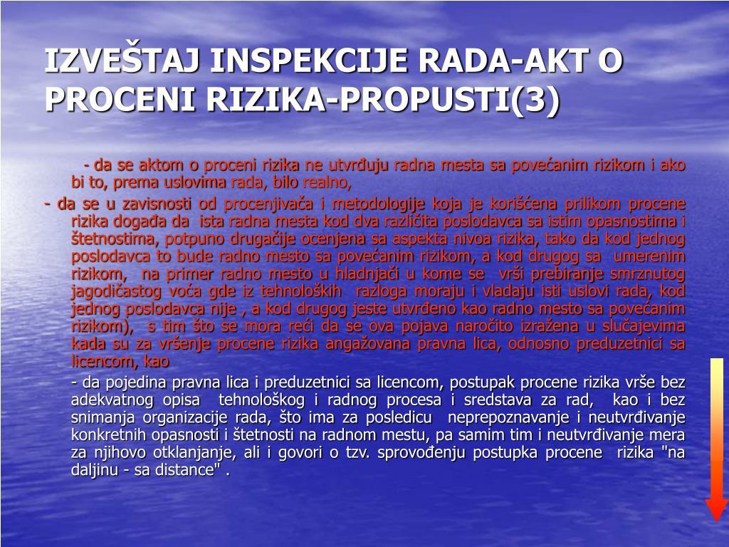 IZVEŠTAJ INSPEKCIJE RADA-AKT O PROCENI RIZIKA-PROPUSTI(3)