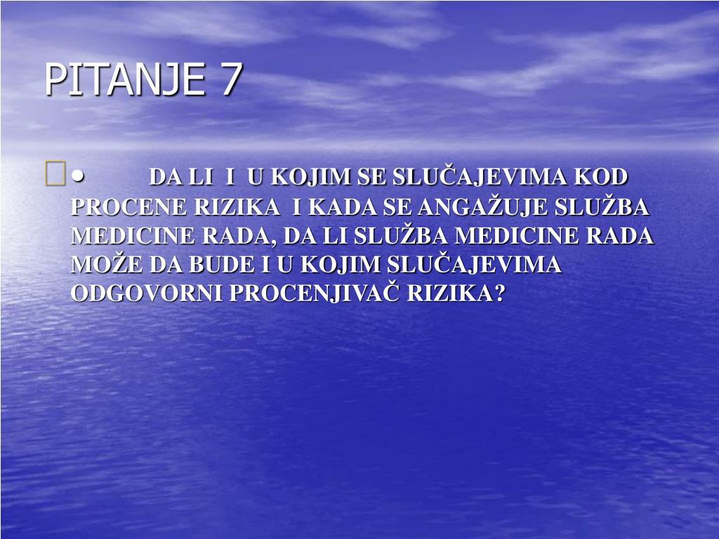 PITANJE 7