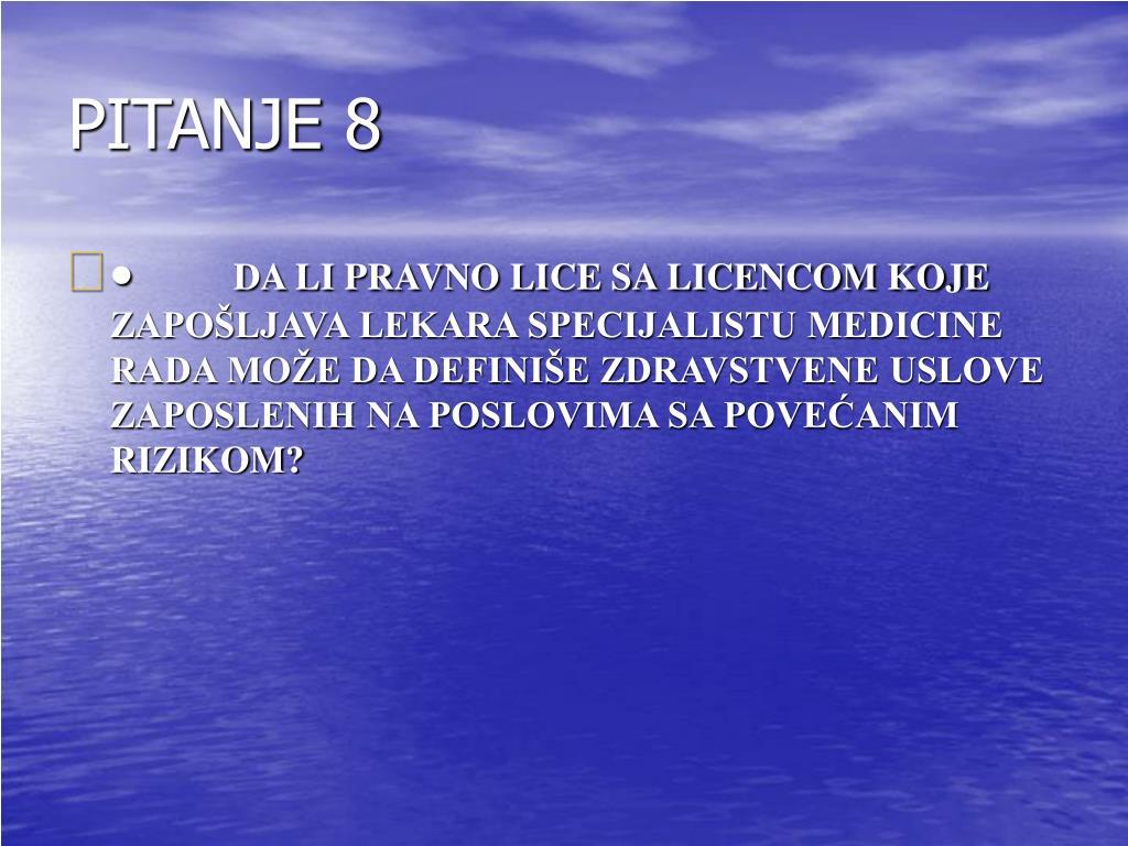PITANJE 8