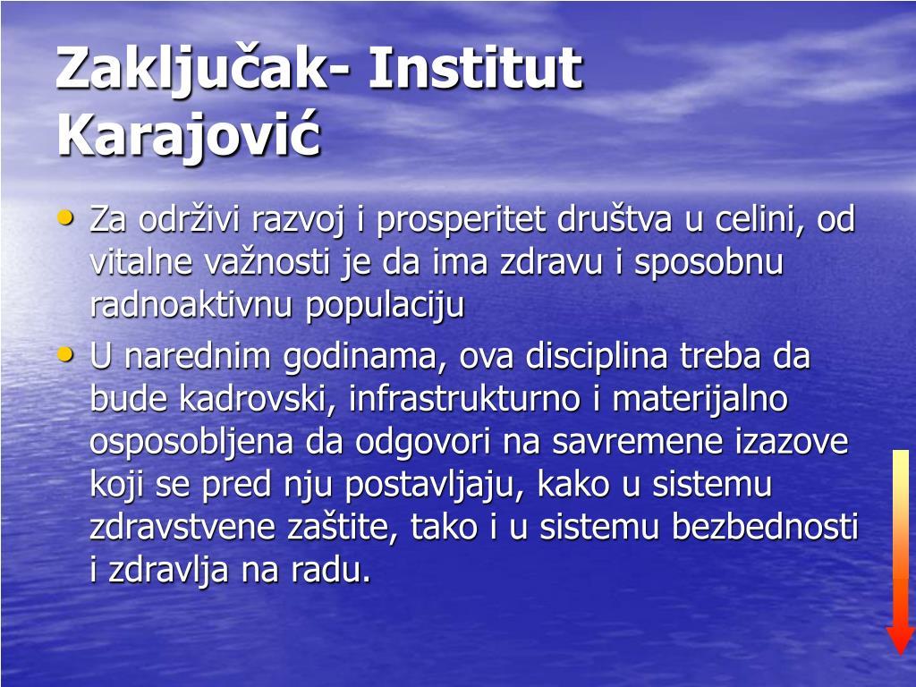 Zaključak- Institut Karajović