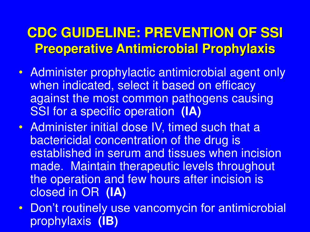 CDC GUIDELINE: PREVENTION OF SSI