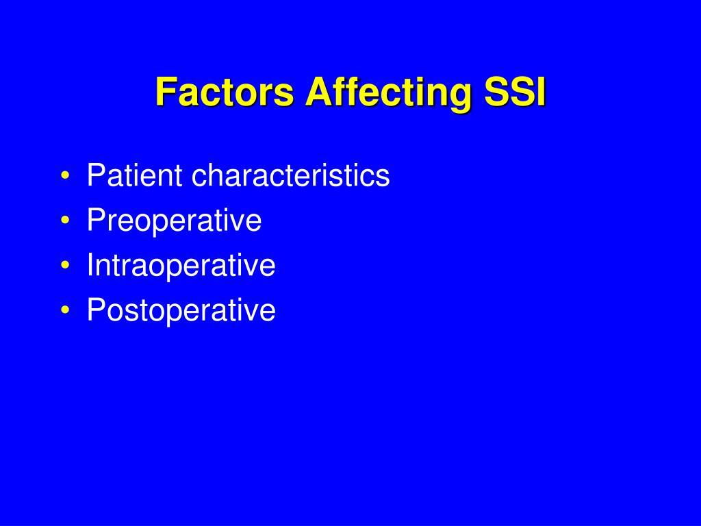 Factors Affecting SSI