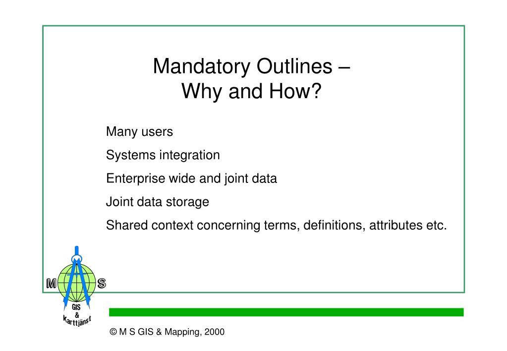 Mandatory Outlines –