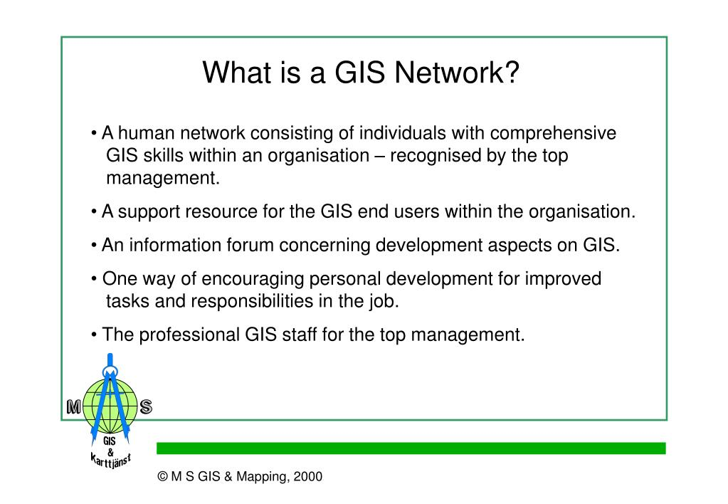 What is a GIS Network?