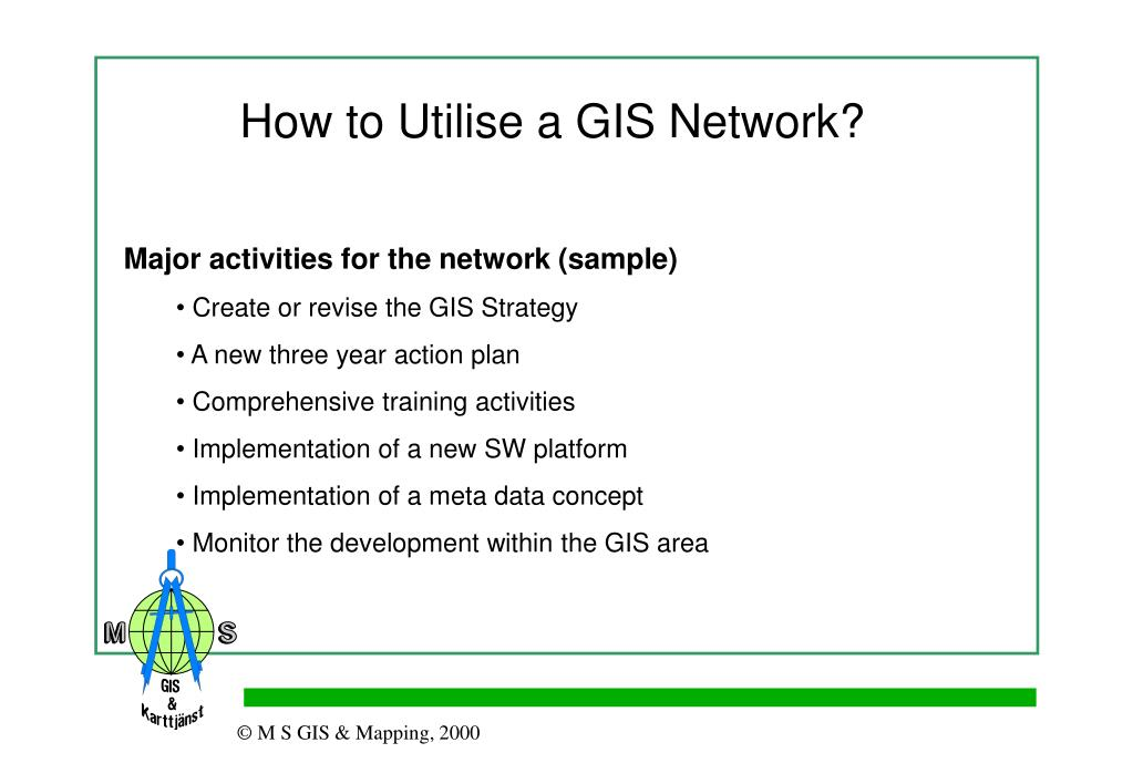 How to Utilise a GIS Network?