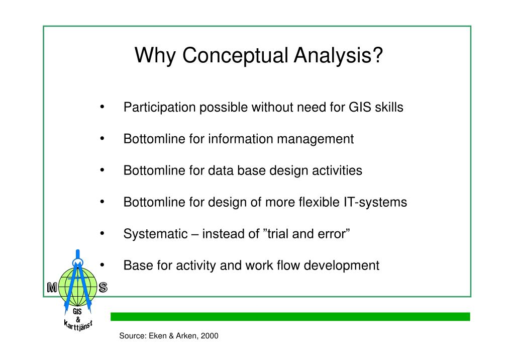 Why Conceptual Analysis?
