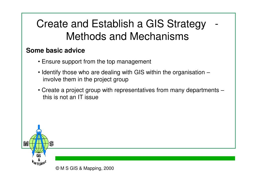 Create and Establish a GIS Strategy