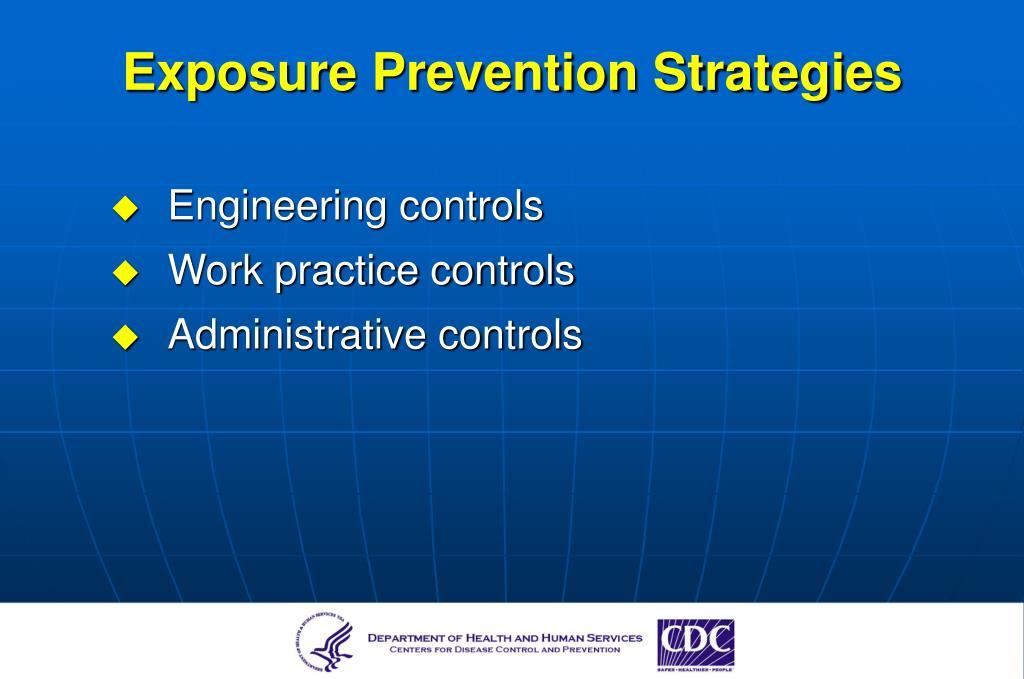 Exposure Prevention Strategies
